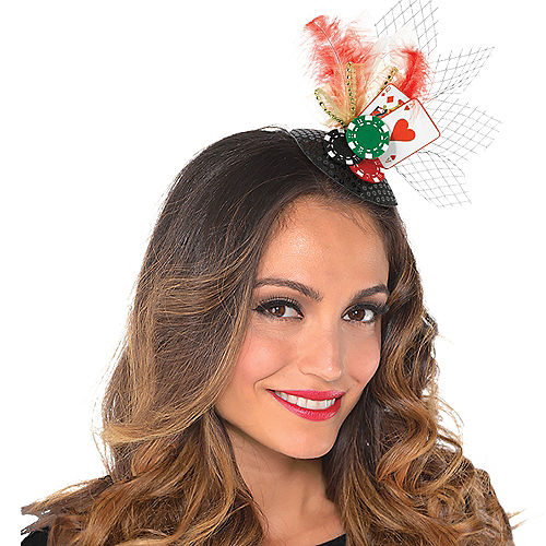 Clip-On Roll the Dice Casino Fascinator Hat Image #1