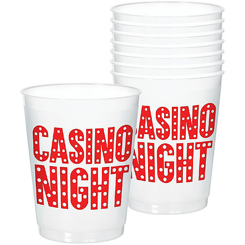 Roll the Dice Casino Frosted Stadium Cups 8ct Image #1