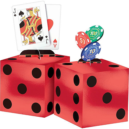 Roll the Dice Casino Centerpiece Kit 4pc Image #1