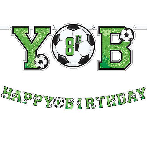Goal Getter Soccer Birthday Banner Kit Image #1