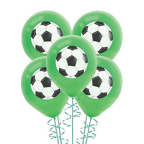 Goal Getter Goal Getter Green Soccer Ball Balloons 5ct Image #1