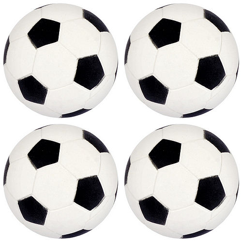 Soccer Rubber Bounce Balls 4ct Image #1