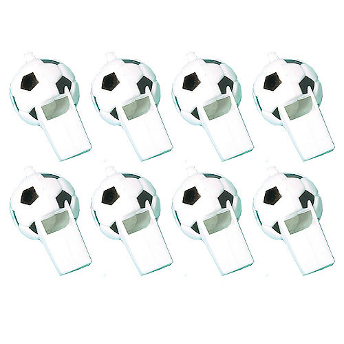 Soccer Whistles 8ct Image #1