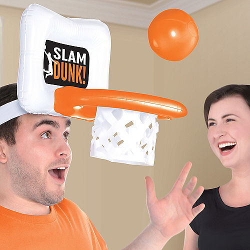 Inflatable Basketball Hoop Game Hat Image #1