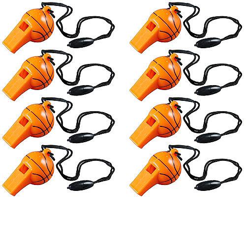 Basketball Whistles 8ct Image #1