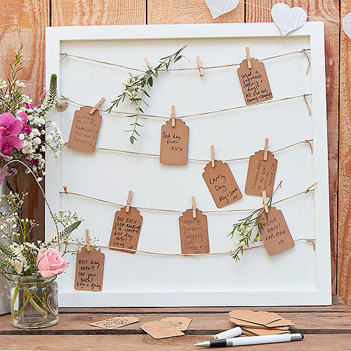 Ginger Ray Pins & Strings Guest Book Frame Kit 142pc Image #1