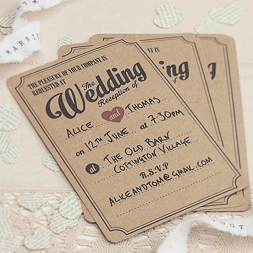 Ginger Ray Vintage Affair Wedding Reception Invitations 10ct Image #1