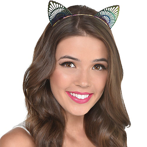 Colorful Filigree Cat Ears Headband Image #2