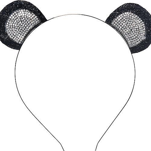 Rhinestone Panda Ears Headband Image #1