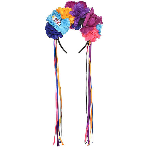 Neon Day of The Dead Floral Headband Image #1
