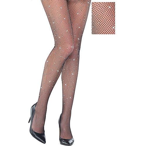 Adult Rhinestone Fishnet Pantyhose Image #1