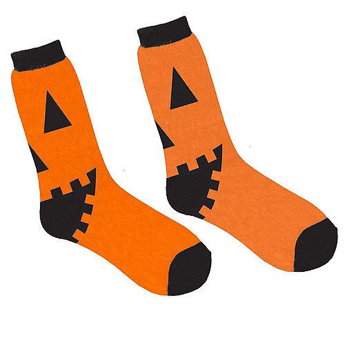 Jack-O-Lantern Crew Socks Image #1