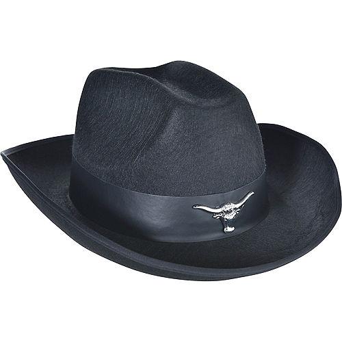 Adult Black Cowboy Hat Image #1