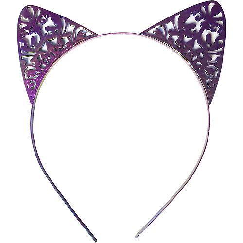 Purple Metal Cat Ear Headband Image #1