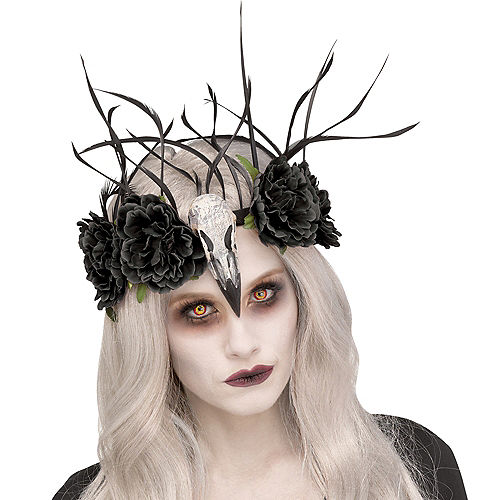 Zombie Mistress Raven Headband Image #1
