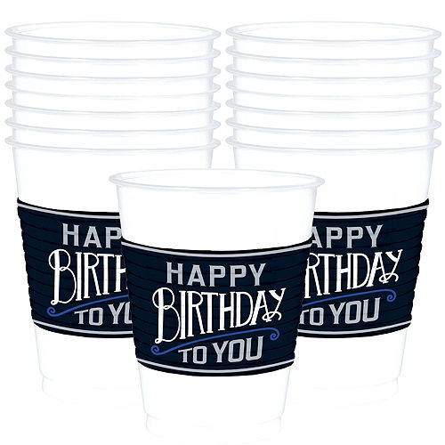Vintage Happy Birthday 40th Birthday Party Kit for 16 Guests Image #6