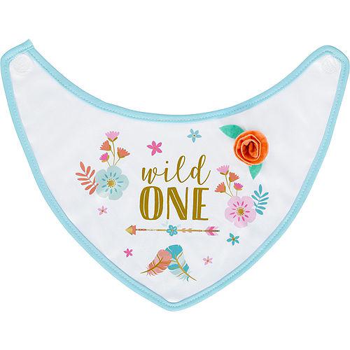 Boho Girl 1st Birthday Bib Image #1