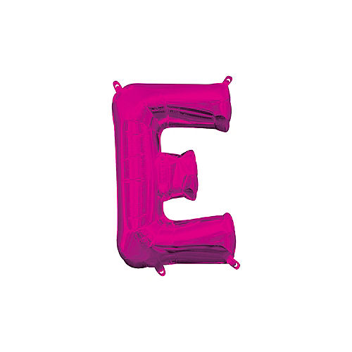 13in Air-Filled Bright Pink Letter Balloon (E) Image #1