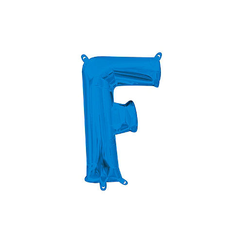 13in Air-Filled Blue Letter Balloon (F) Image #1