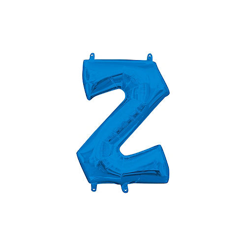 13in Air-Filled Blue Letter Balloon (Z) Image #1