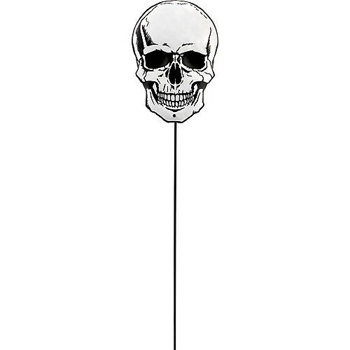 Skull Halloween Yard Stake Image #1