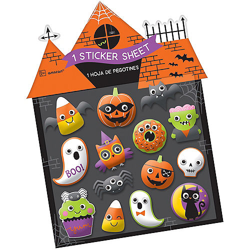 Halloween Puffy Stickers 1 Sheet Image #1