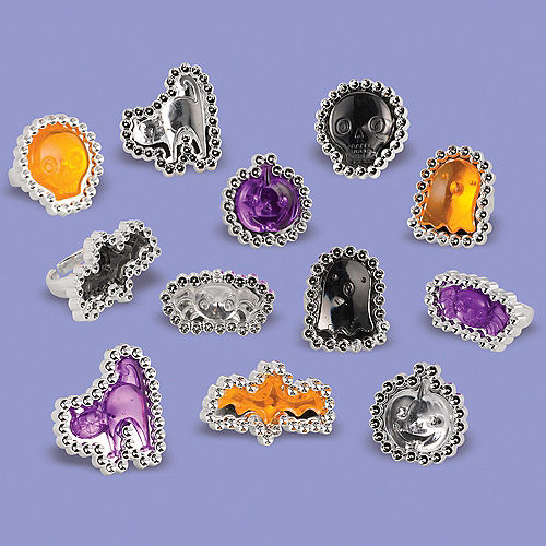Jewel Halloween Rings 12ct Image #1