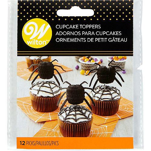 Wilton Honeycomb Spider Cupcake Picks 12ct Image #1