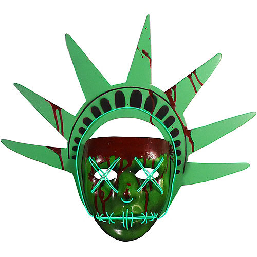 Light-Up Lady Liberty Mask - The Purge: Election Year Image #1