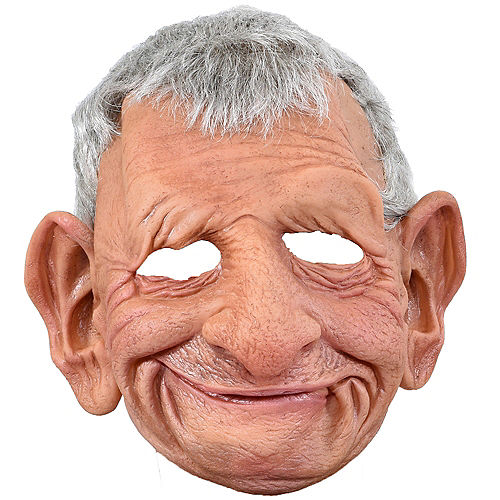 Wrinkled Grandpa Mask Image #1