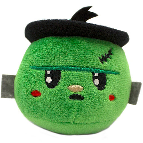 Clip-On Sour Apple-Scented Frankenstein Backpack Buddies Plush Image #1