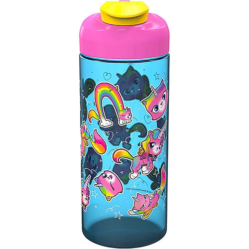 Rainbow Butterfly Unicorn Kitty Water Bottle Image #1