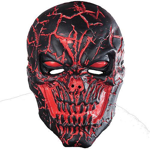 Light-Up Scorched Skull Mask Image #1