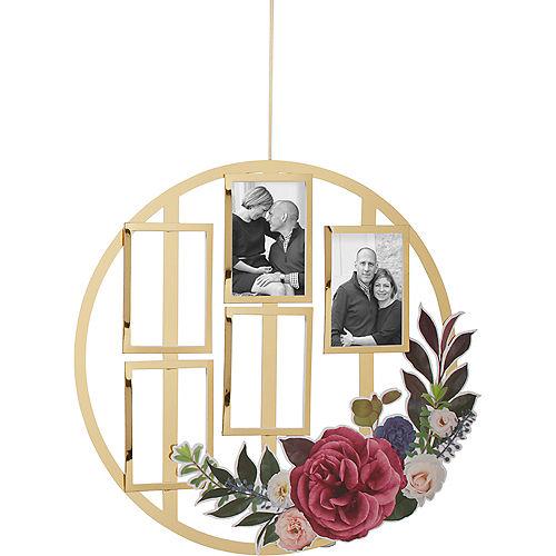 Customizable Metallic Gold Rose Photo Decoration Image #1