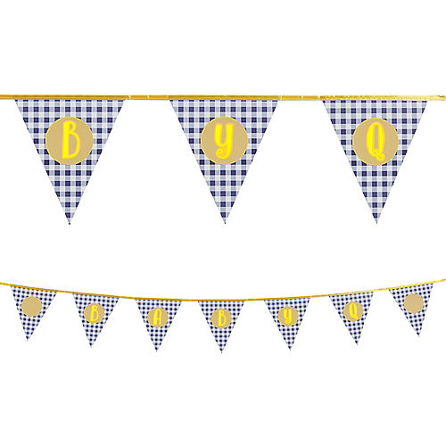 Customizable Baby Q Baby Shower Pennant Banner Kit Image #1