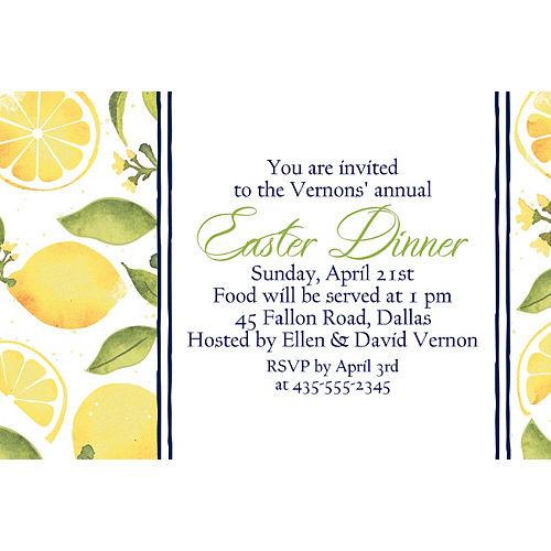 Custom Lemon Invitations Image #1