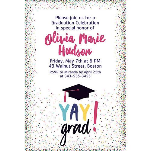 Custom Yay Grad Invitations  Image #1