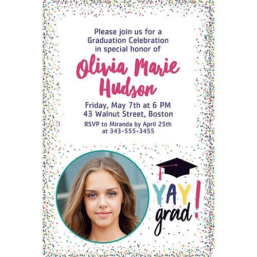 Custom Yay Grad Photo Invitations  Image #1