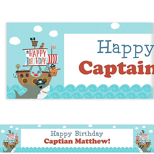 Custom Ahoy Birthday Banner Image #1