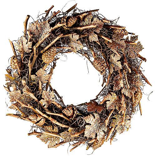 Metallic Copper Pinecones & Twigs Wreath Image #1