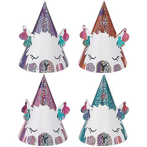 Mini Llama Fun Prismatic Party Hats 8ct Image #1