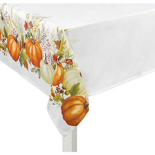 Fabric Traditional Pumpkin Table Cover Image #1
