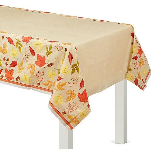 Fall Foliage Plastic Table Cover Image #1