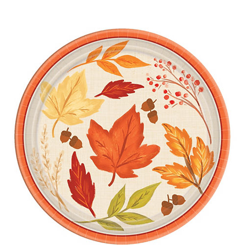 Fall Foliage Dessert Plates 8ct Image #1