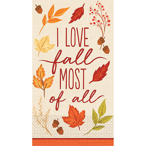 Fall Foliage Guest Towels 16ct Image #1