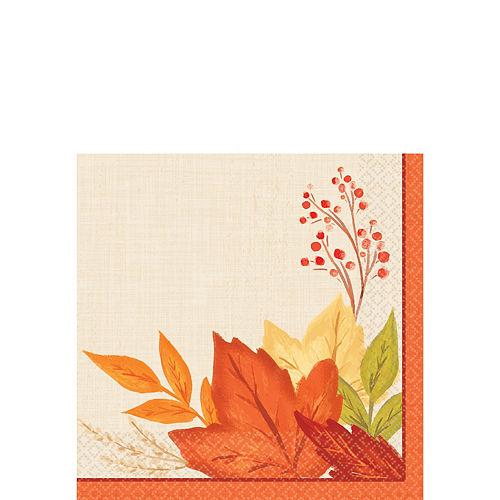 Fall Foliage Beverage Napkins 16ct Image #1