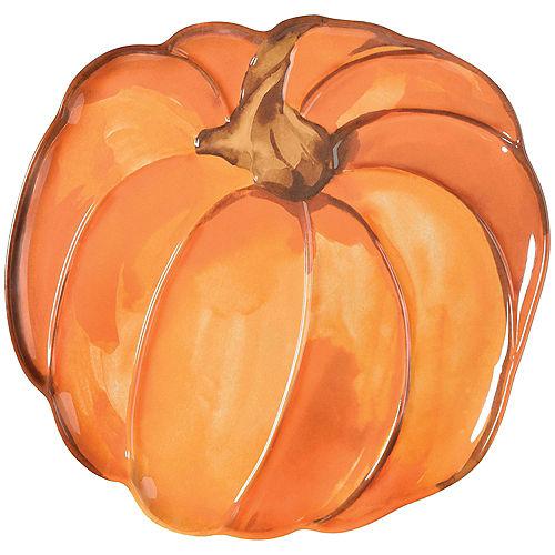 Pumpkin-Shaped Melamine Platter Image #1