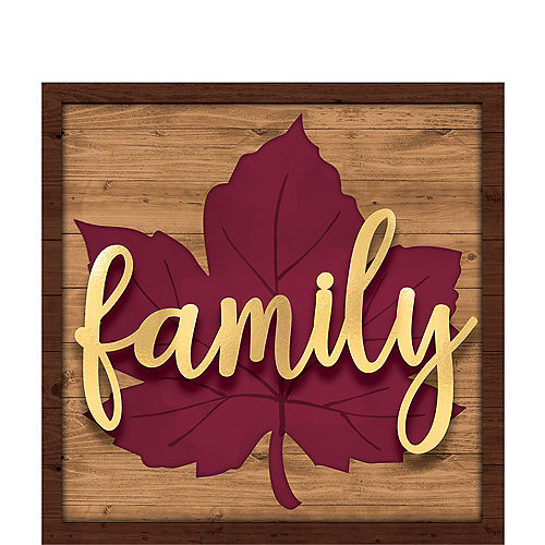 Family Fall Leaf Block Sign Image #1