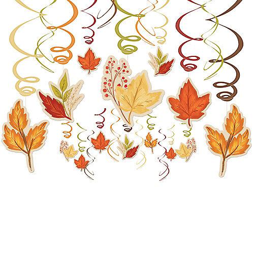 Fall Foliage Swirl Decorations 30ct Image #1
