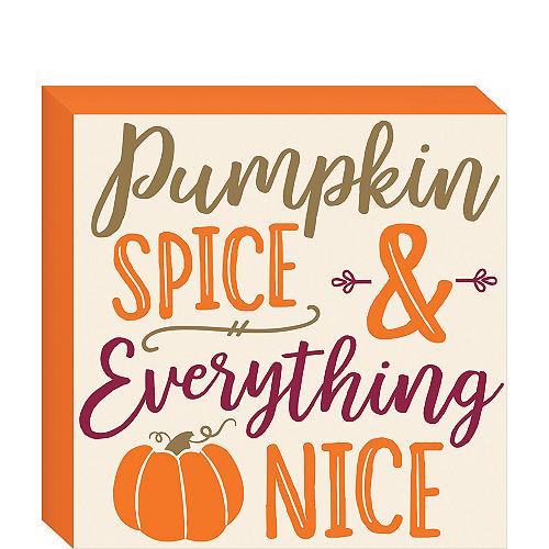 Pumpkin Spice Block Sign Image #1